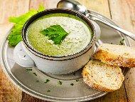Рецепта Веган крем супа (кремсупа) от спанак с ориз